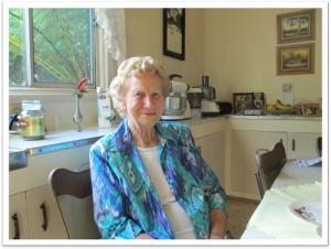 Lorna in her kitchen.